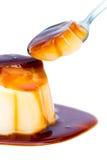 Crème Photographie stock libre de droits