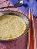Crème anglaise cuite à la vapeur d'oeufs Photo libre de droits