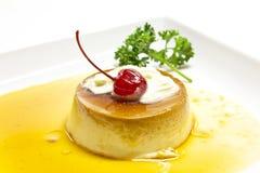 Crème anglaise de caramel Photo stock