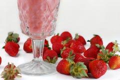 Crème aux fraises Photographie stock libre de droits