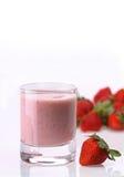 Crème aux fraises Photographie stock