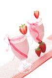Crème aux fraises luxueuse. Photographie stock libre de droits