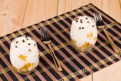 Crème avec des fruits Photo stock