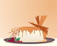 Crème-brulée Illustrazione di Stock