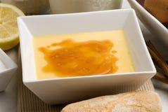 Crème brulée. Catalana de Crema. Photos stock