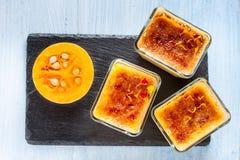 Crème-brulée della zucca Immagini Stock Libere da Diritti