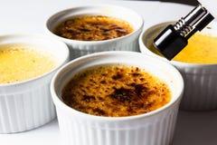 Crème Brulée stock afbeeldingen