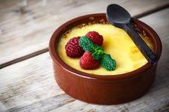 Crème brulée exclusive Photo libre de droits