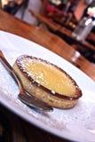 Crème brulée française Photographie stock