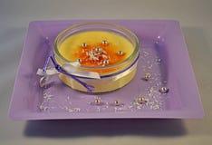 Crème brulée, mousse Image libre de droits