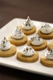 Crème de biscuit Photographie stock