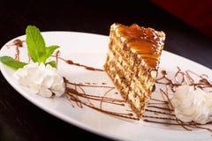 Crème de bonbon à nourriture de dessert de gâteau Photos stock