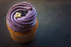 Crème de désert de petit gâteau Photographie stock libre de droits