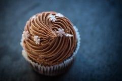 Crème de désert de petit gâteau Photos stock