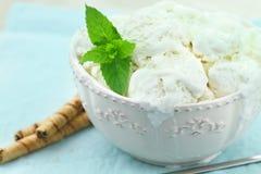 Crème de glace à la vanille Images stock