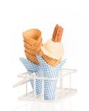 Crème de glace à la vanille Photographie stock