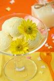 Crème de glace à la vanille Photo stock