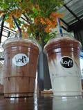 Crème de moka de glace et de glace Image libre de droits