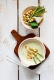 Crème de potage d'asperge Photo libre de droits