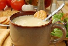 Crème de potage de céleri image stock