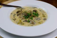 Crème de soupe à champignons Image stock