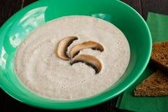 Crème de soupe à champignons Photo libre de droits