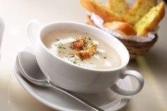 Crème de soupe à champignons Images stock