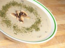 Crème de soupe à champignons Photographie stock