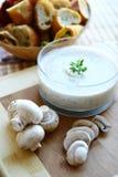 Crème de soupe à champignons Photographie stock libre de droits