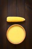 Crème de soupe à maïs photo libre de droits