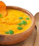 Crème de soupe à potiron Photos libres de droits