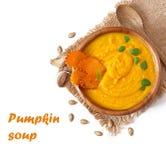 Crème de soupe à potiron Photographie stock libre de droits