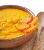 Crème de soupe à potiron Images libres de droits