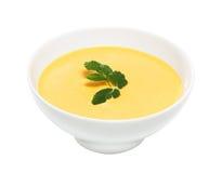 Crème de soupe à potiron, d'isolement Photos libres de droits