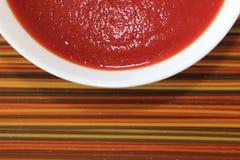 crème de soupe à tomate Photographie stock libre de droits
