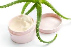 Crème de vera d'aloès Image stock