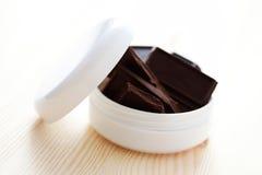 Crème de visage de chocolat Image libre de droits