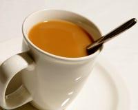 Crème en café photographie stock