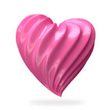 Crème en forme de coeur de fraise Images libres de droits