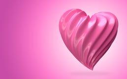 Crème en forme de coeur de fraise Images stock
