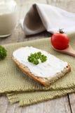 Crème faite maison de fromage Photographie stock