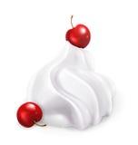Crème fouettée avec des baies illustration libre de droits
