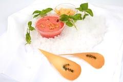 Crème fruitée Photographie stock