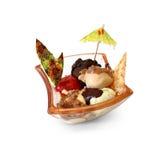 Crème glacée avec des saveurs mélangées Photographie stock libre de droits