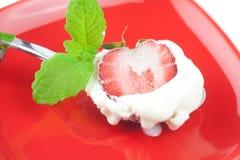 Crème glacée avec la menthe Images libres de droits