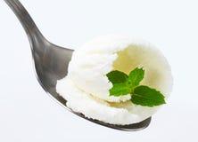 Crème glacée blanche Photo libre de droits