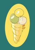 Crème glacée d'affiche Photos libres de droits