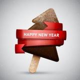 Crème glacée d'arbre de Noël de chocolat Photographie stock libre de droits