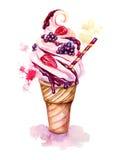 Crème glacée d'illustration Images stock