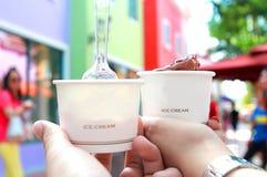 Crème glacée dans notre temps Images stock